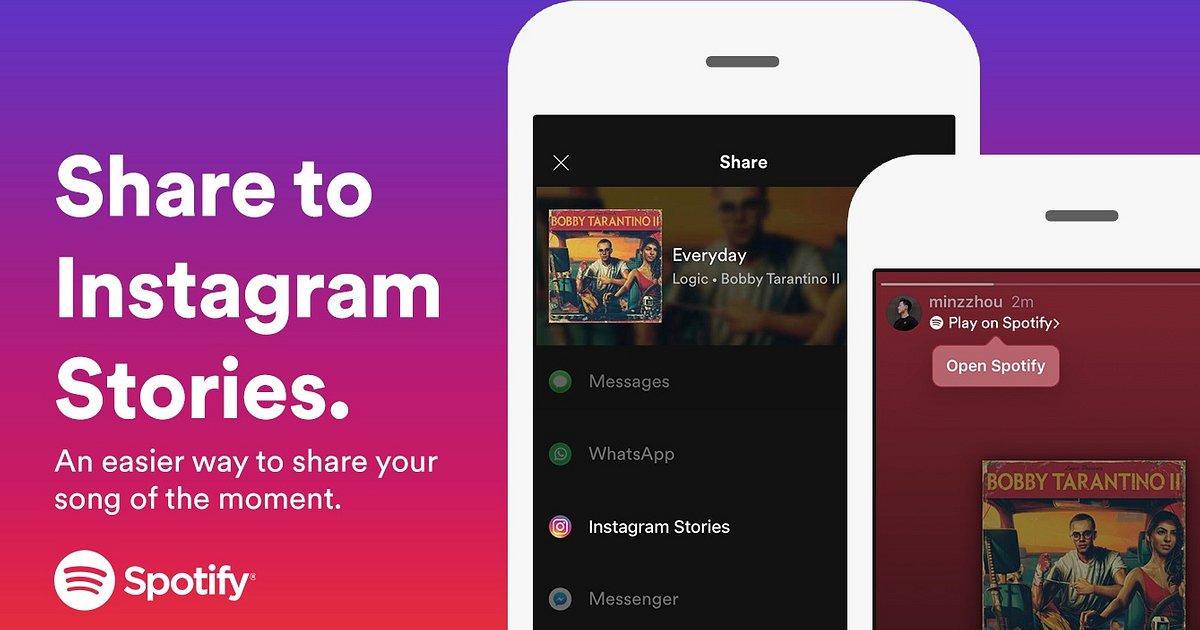 Spotify Integration in Instagram Stories