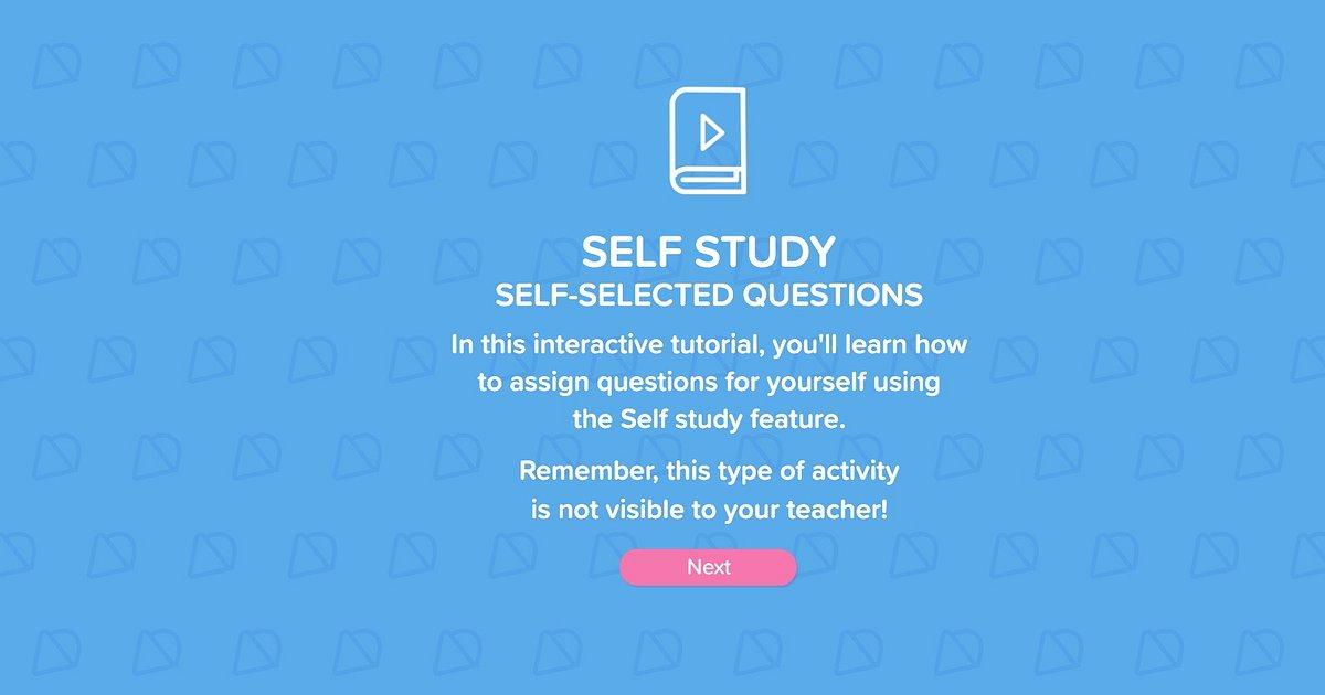 Self study in NUADU