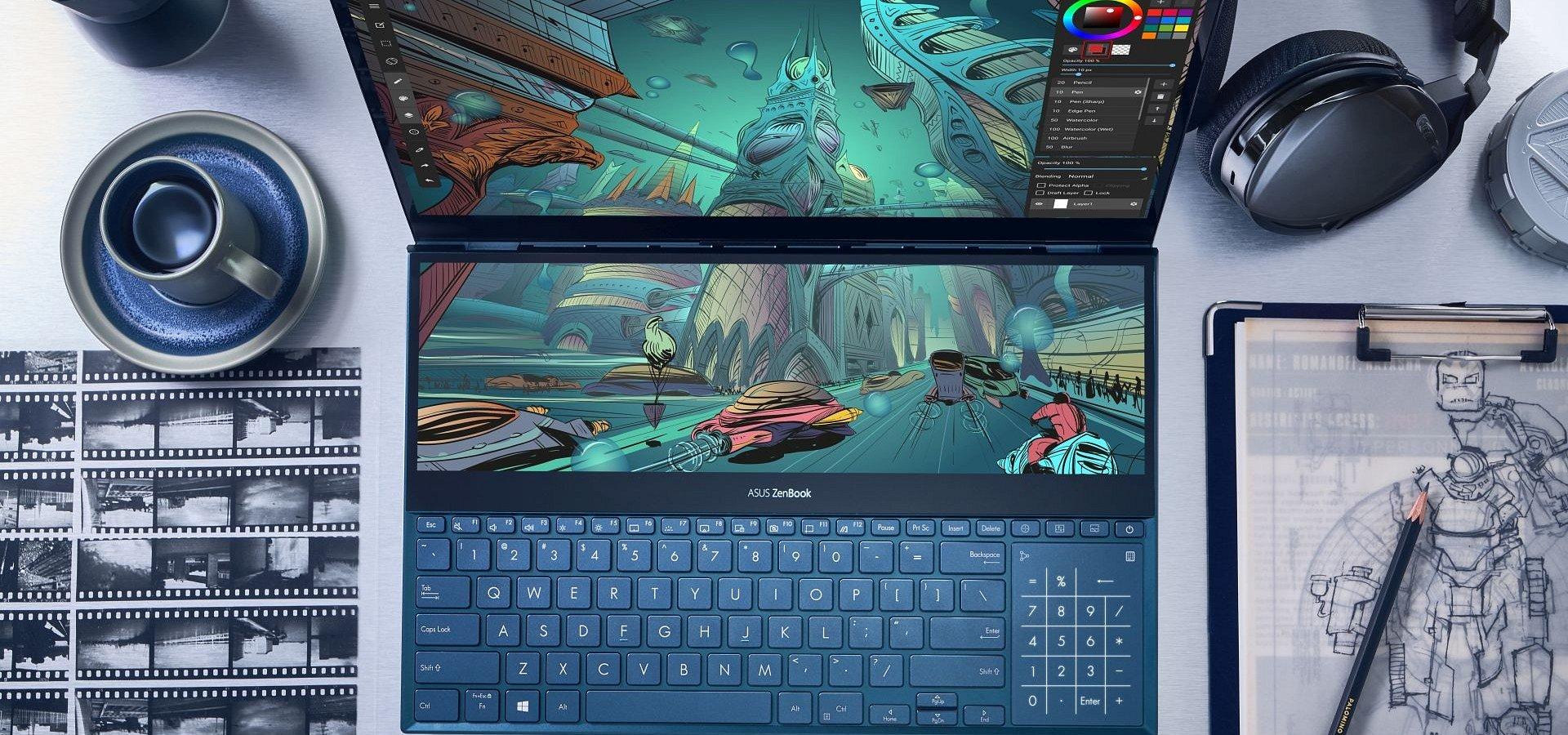ASUS ZenBook Pro Duo z rewolucyjnym rozwiązaniem ScreenPad Plus już w sprzedaży!