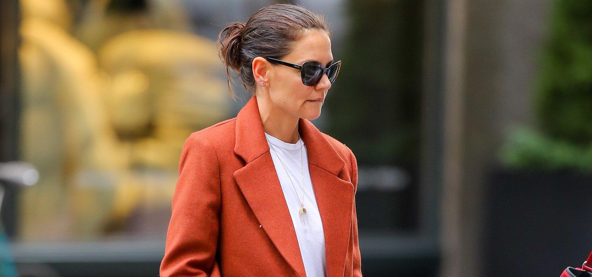 SPOTTED: Katie Holmes w płaszczu od MANGO!