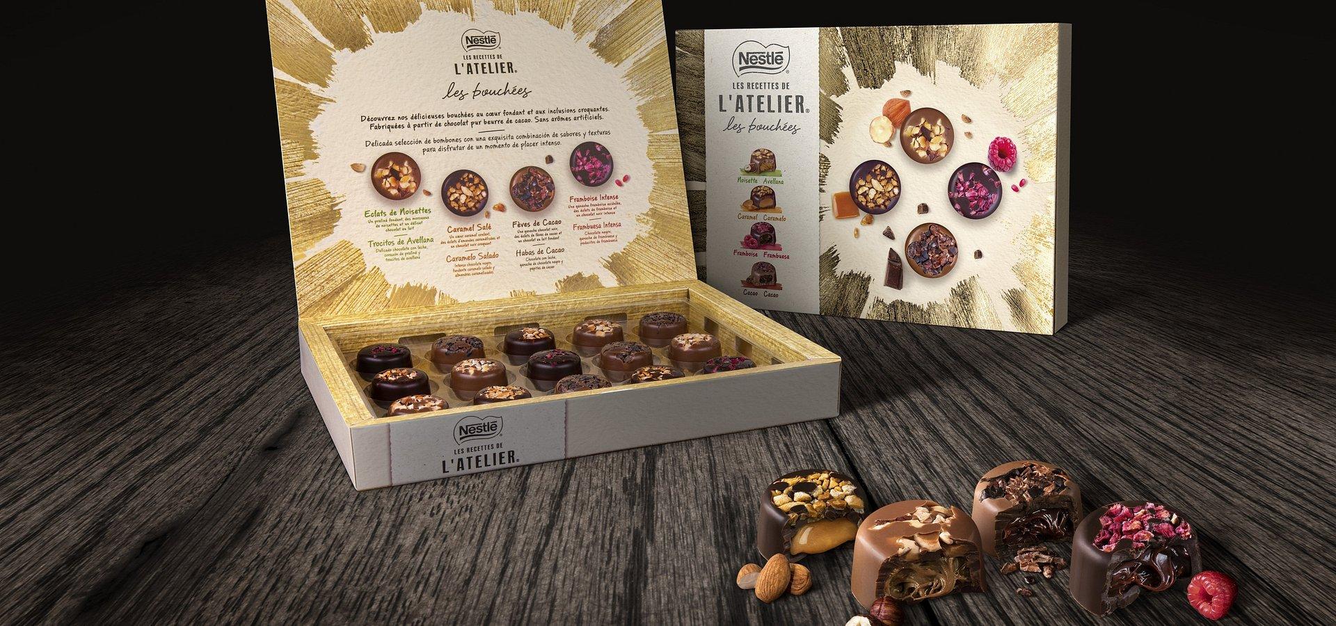 Novos Bombons Nestlé® Les Recettes de L'Atelier® trazem sofisticação a este Natal