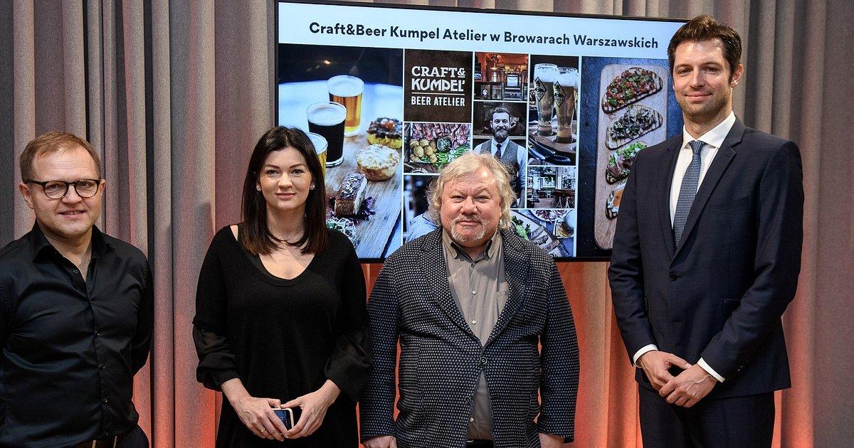 Piwowarska tradycja powróci do Browarów Warszawskich. Browar Kumpel oczaruje piwem kraftowym, nowoczesny designem i świetną kuchnią