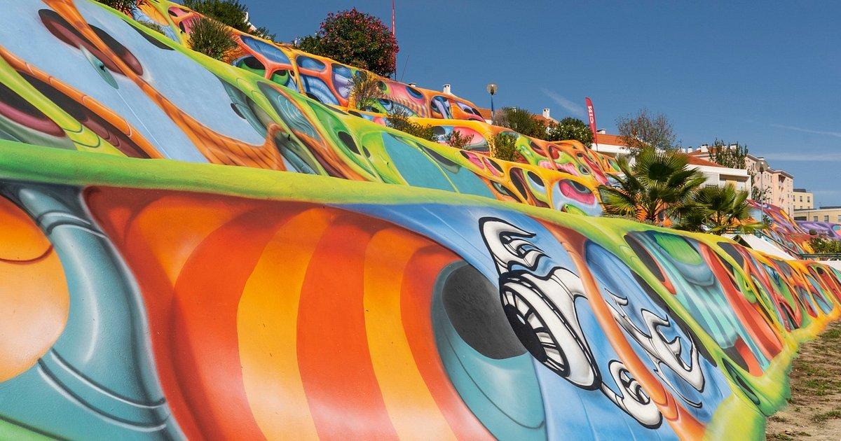 Talude - uma das maiores obras de arte urbana da Europa tem as cores da CIN