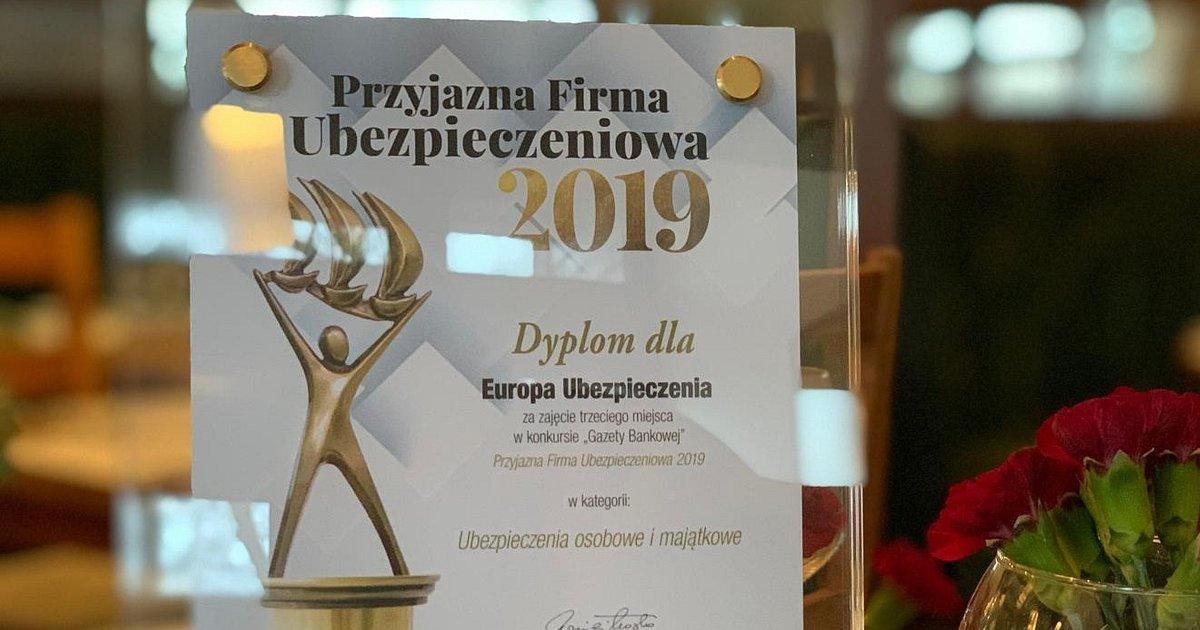 """Europa na podium konkursu """"Przyjazna Firma Ubezpieczeniowa"""""""