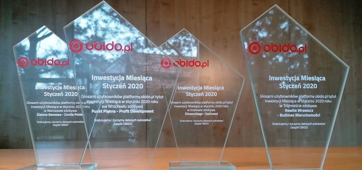 Styczniowe nagrody Inwestycja Miesiąca dla deweloperów