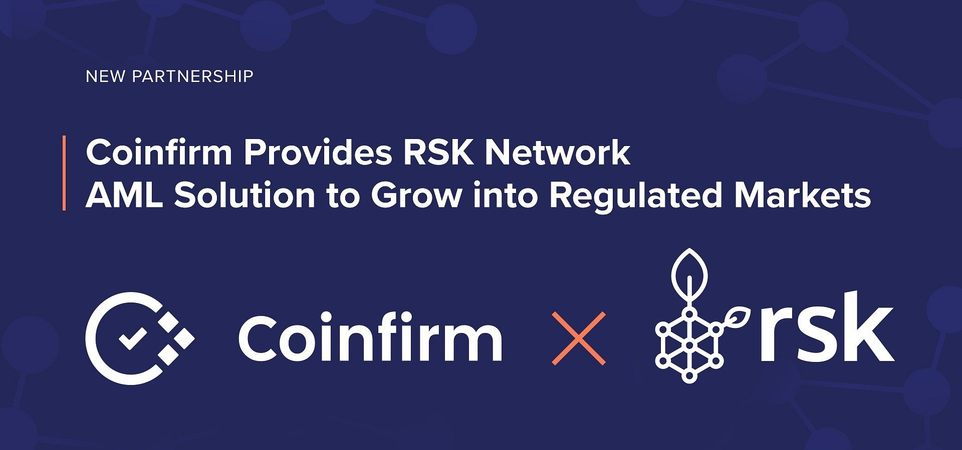 Coinfirm Provides RSK and RIF platforms an AML Solution to Grow into Regulated Markets