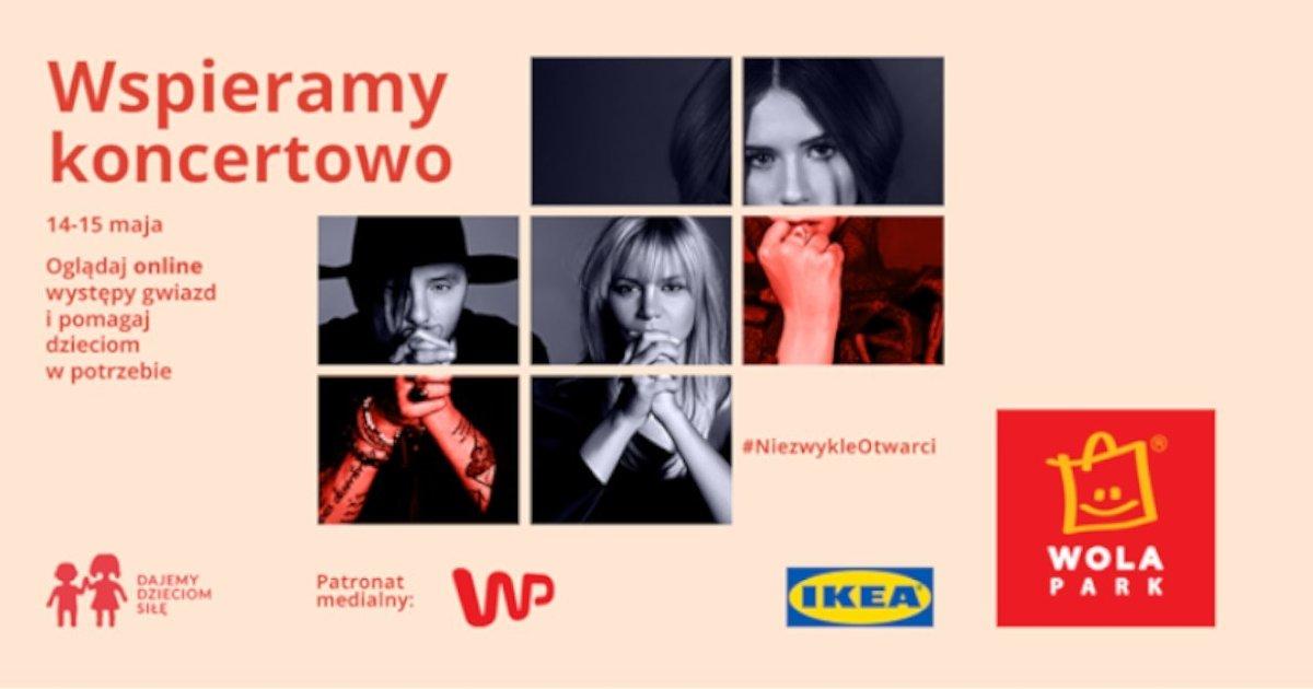 Charytatywne koncerty online dają dzieciom siłę. IKEA Retail, Ingka Centres oraz Ikano Bank ruszają z akcją #WSPIERAJMYSIĘ
