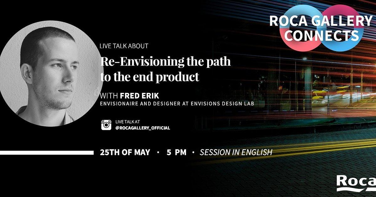#rocagalleryconnects zaprasza do rozmów o designie na żywo