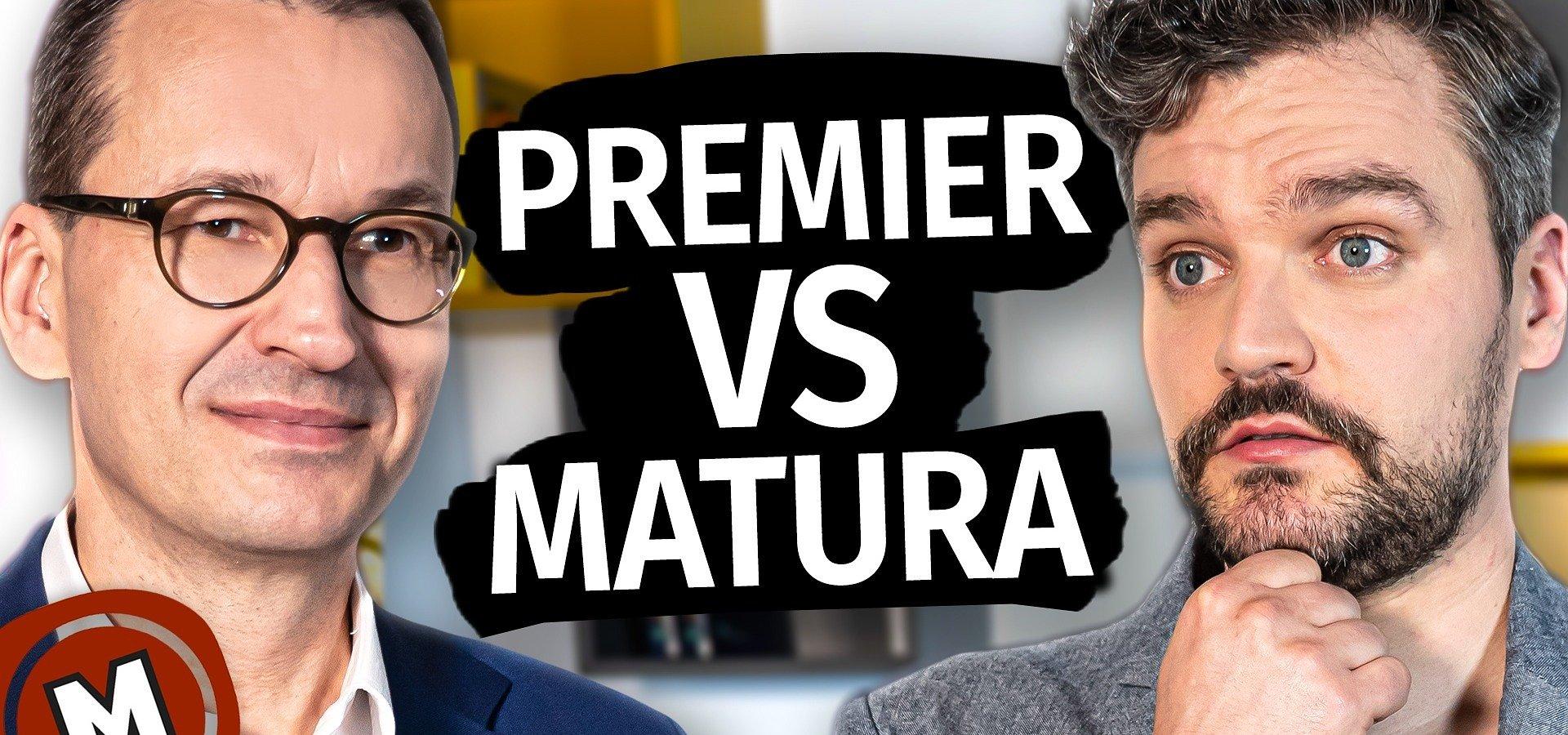 """Premier Morawiecki przepytany przez """"Matura To Bzdura"""". Wywiad przeprowadził Adam Drzewicki"""