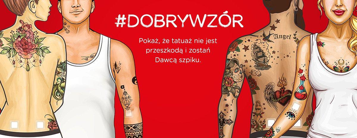 Wytatuowani Dawcy szpiku to #DobryWzór. Fundacja DKMS i studia tatuażu mówią o tym, że Dawca szpiku może mieć tatuaż