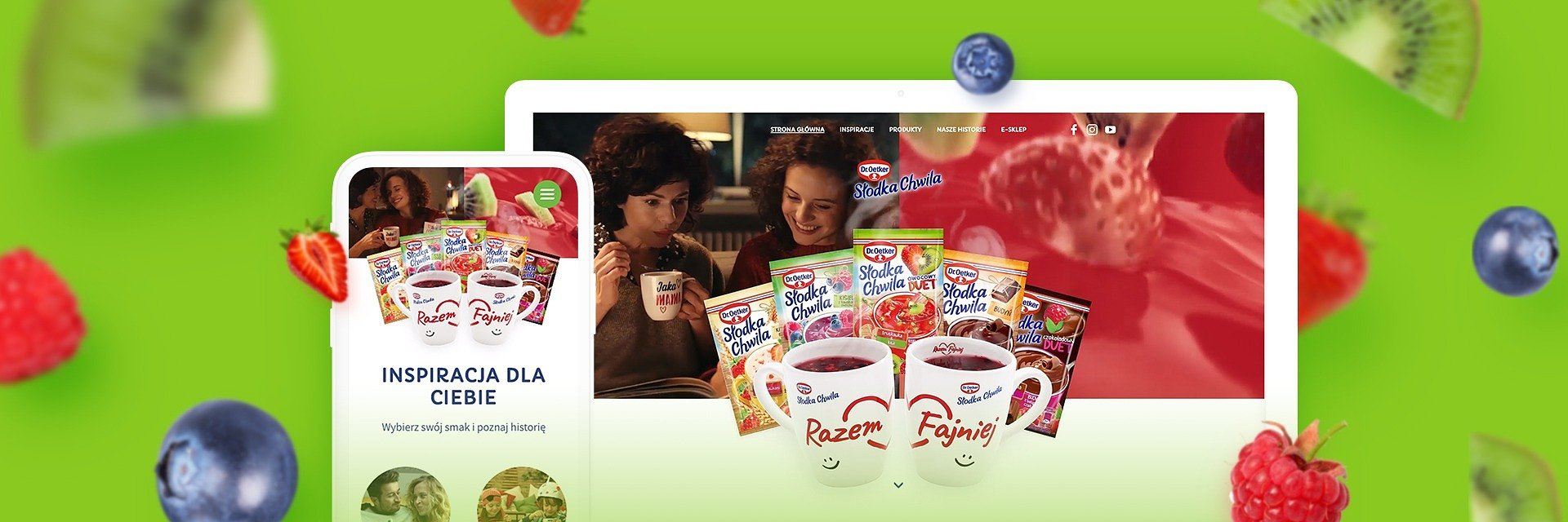 Dr. Oetker bestseller with a new campaign site
