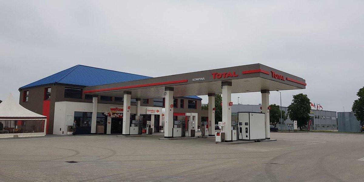 Nowa stacja Total w Kompinie