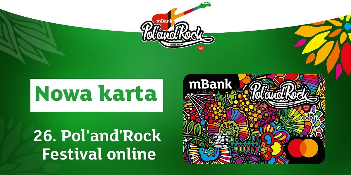 Wyjątkowy Festiwal Pol'and'Rock, wyjątkowa karta od mBanku