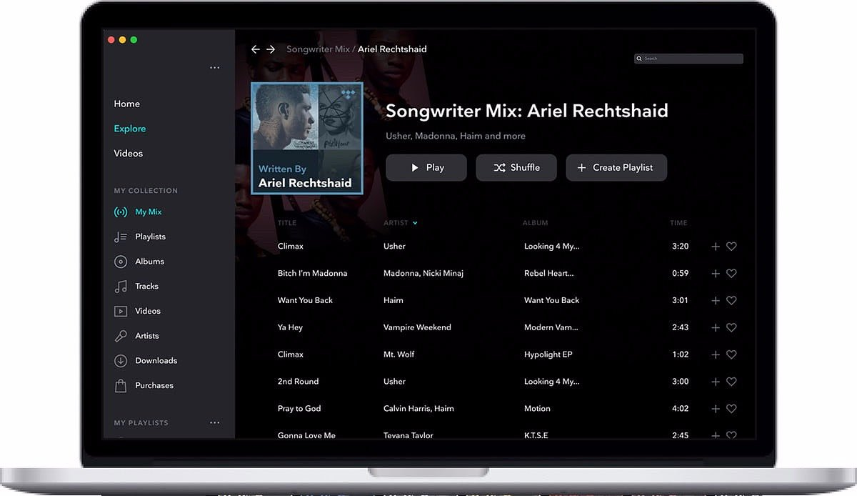 Nowa funkcja – Contributor Mix w TIDAL!