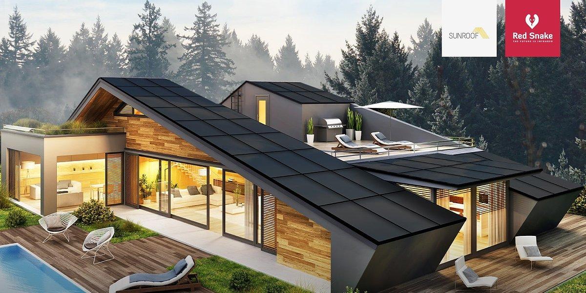 SunRoof i Red Snake łączą swoje innowacyjne technologie. Dachy solarne SunRoof 2w1 oraz systemy grzewcze Red Snake szturmem zdobywają polskie i zagraniczne rynki budownictwa