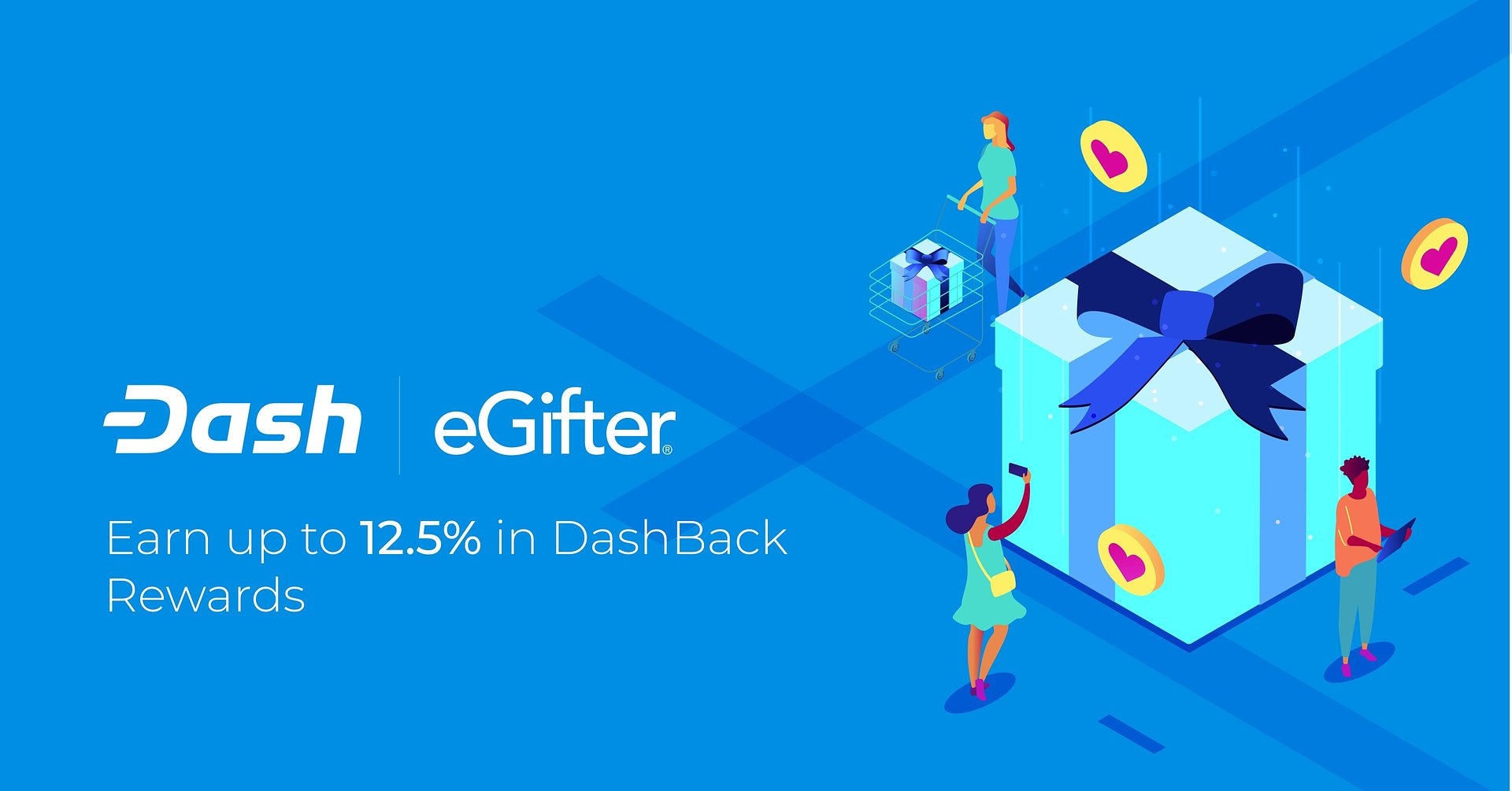 Earn up to 12.5% in Rewards On Gift Card Marketplace eGifter With Dash-Back