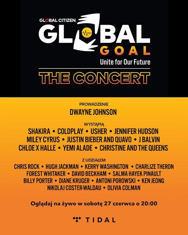 Gwiazdy światowej muzyki wystąpią na koncercie Global Goal: Unite for Our Future, transmitowanym na żywo w TIDAL!