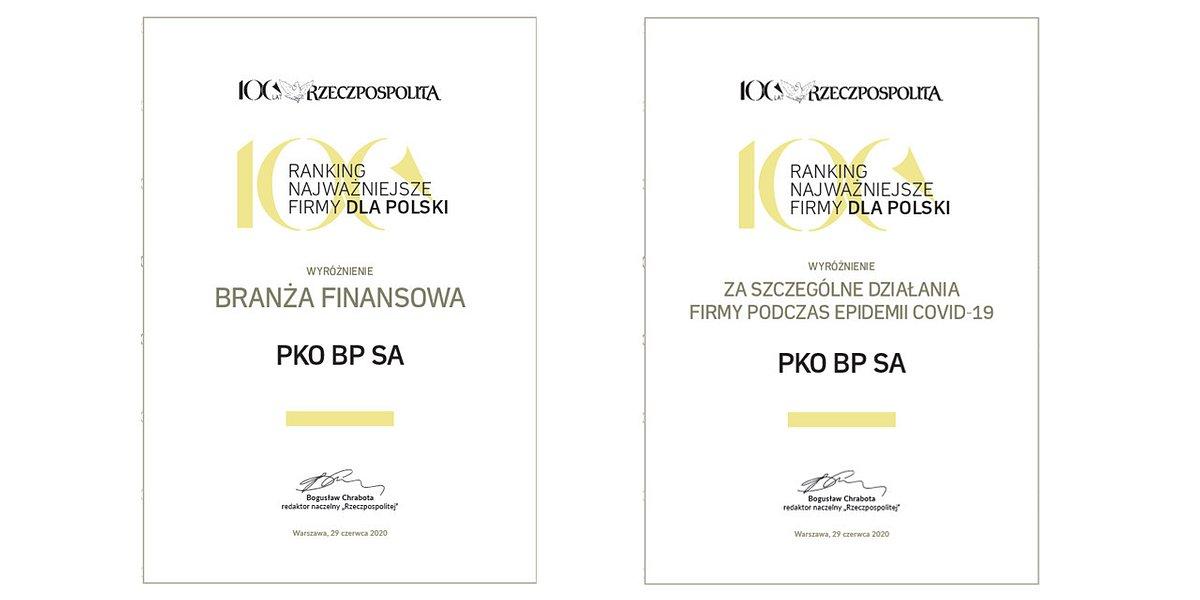 """PKO Bank Polski wśród """"Najważniejszych firm dla Polski"""""""