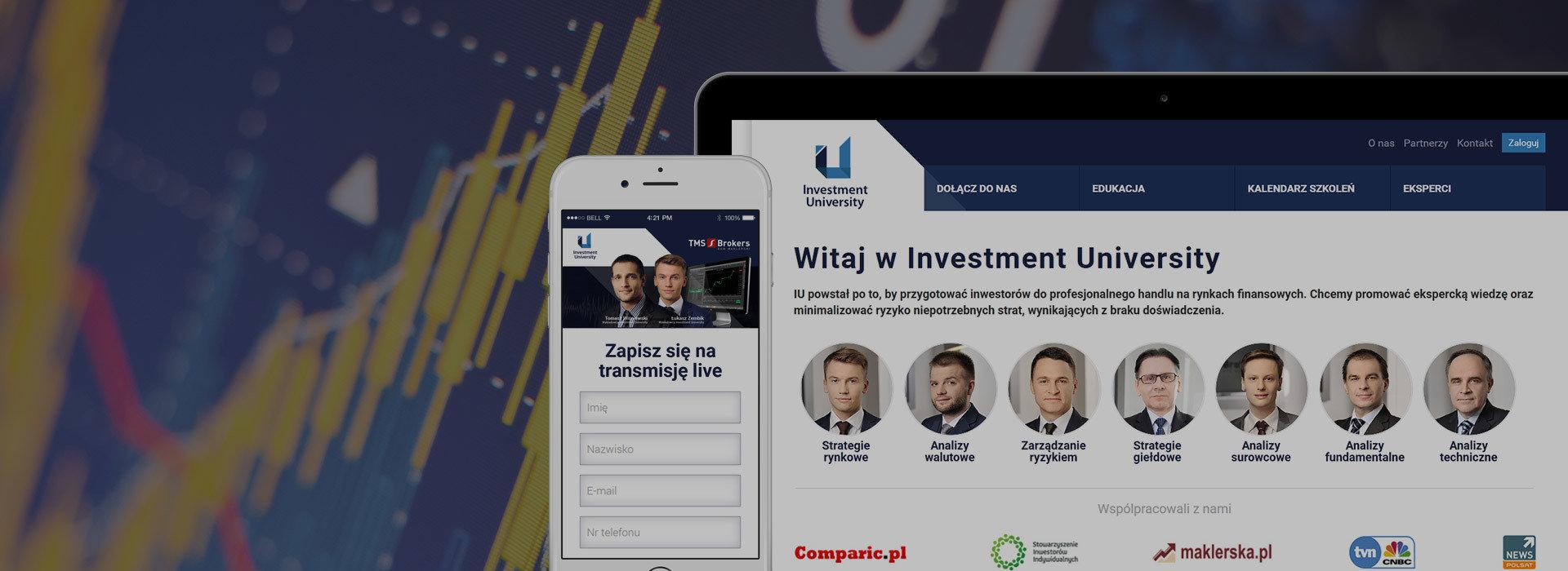 Rebranding szkoły inwestowania - rusza Investment University