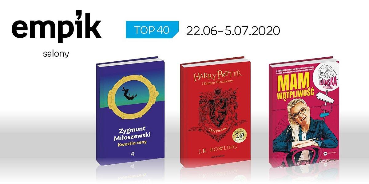 Książkowa lista TOP 40 w salonach Empik za okres 22 czerwca - 5 lipca