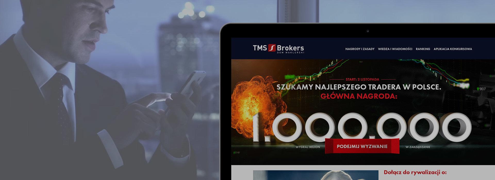 Kampania telewizyjna i serwis konkursowy dla TMS Brokers