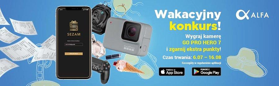 Kamera GoPro Hero7 do wygrania w Wakacyjnym Konkursie Sezamu