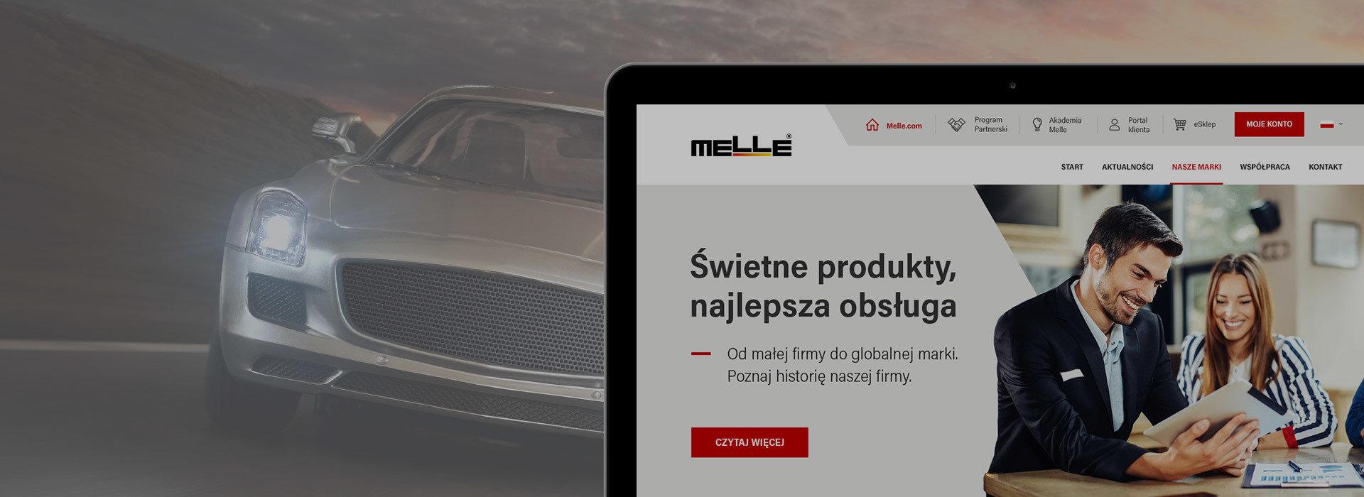 Melle – Rebranding serwisów www dla lidera na polskim rynku