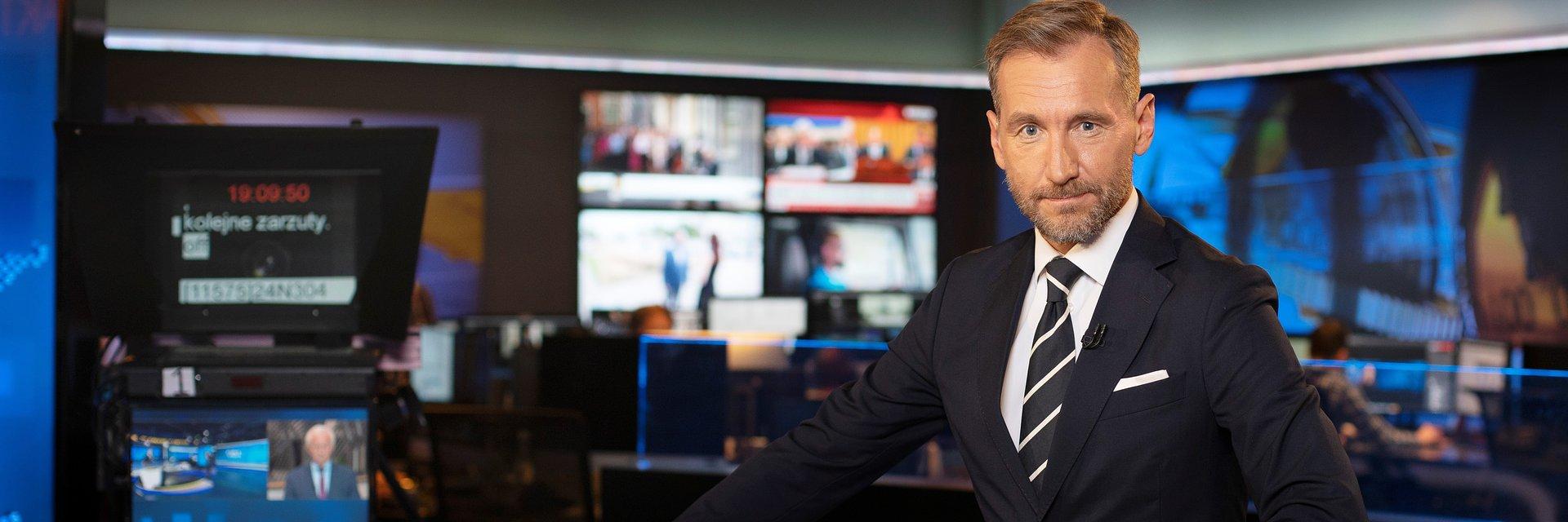 Piotr Kraśko w zespole Faktów TVN i TVN24
