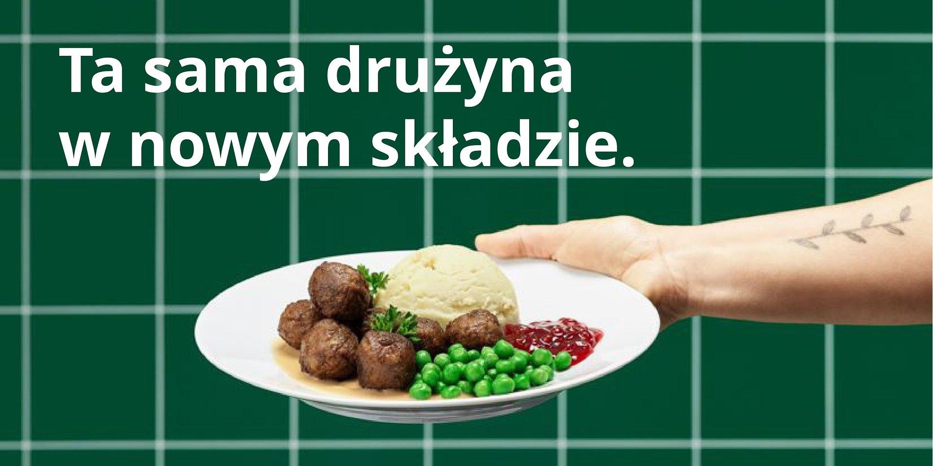 Kultowe klopsiki IKEA dla każdego, kto lubi ich smak, teraz w całkowicie roślinnej wersji! Ta sama drużyna w nowym składzie.