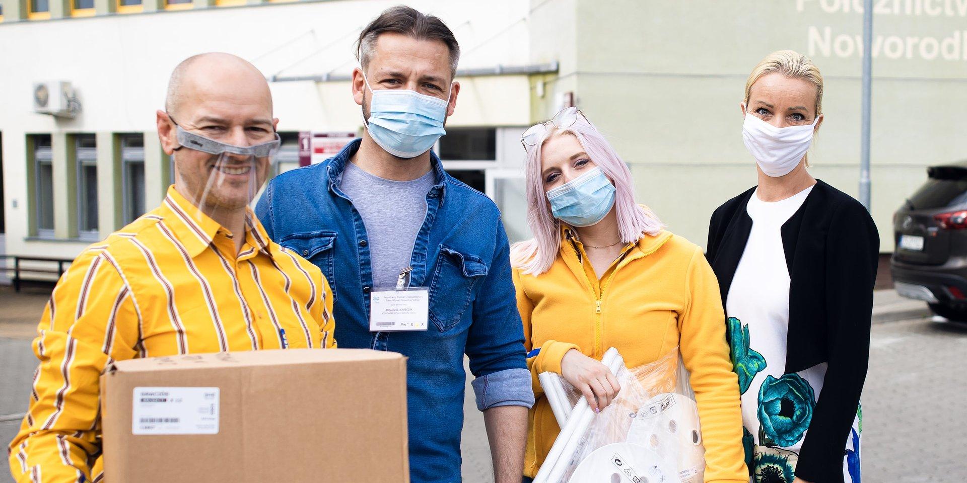 """Zachodniopomorski szpital """"Zdroje"""" w Szczecinie otrzymał nowe wyposażenie od IKEA w ramach akcji #PomagamyRazem"""