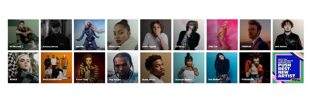 MTV ogłasza nominacje VMA Push Best New Artist 2020. Wśród nominowanych m.in. BENEE, Conan Gray i YUNGBLUD!
