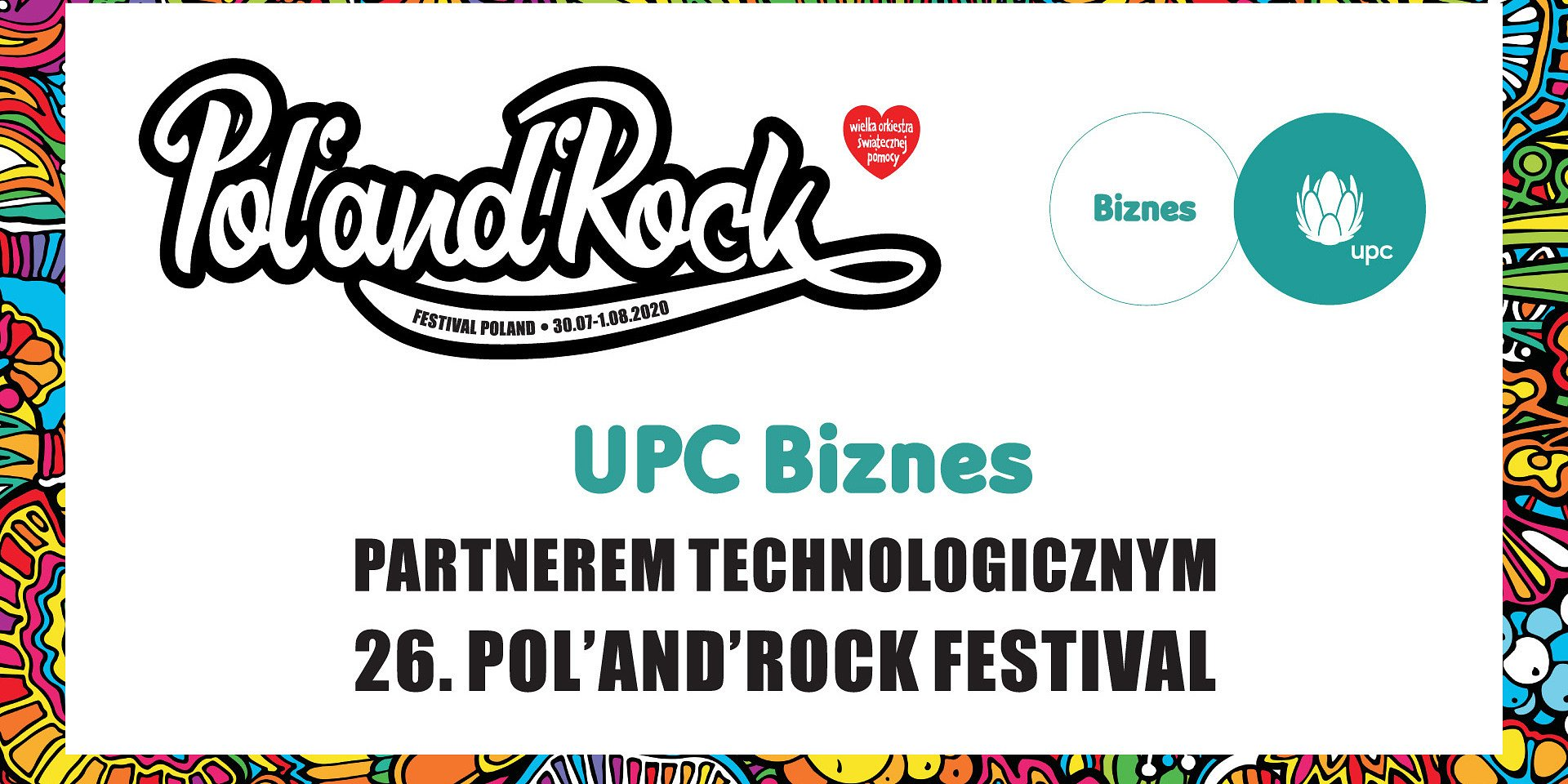 UPC Biznes partnerem technologicznym 26. Pol'and'Rock Festival
