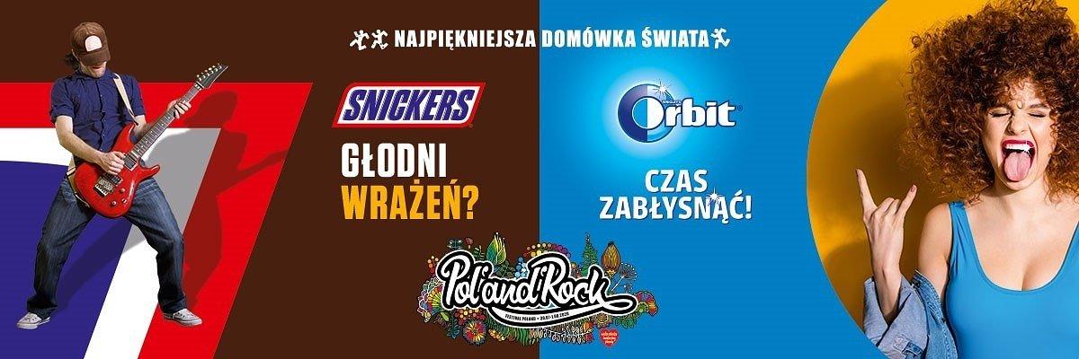 Orbit® i Snickers® na Najpiękniejszej Domówce Świata – marki z portfolio Mars Wrigley sponsorują 26. Pol'and'Rock Festival w wersji online