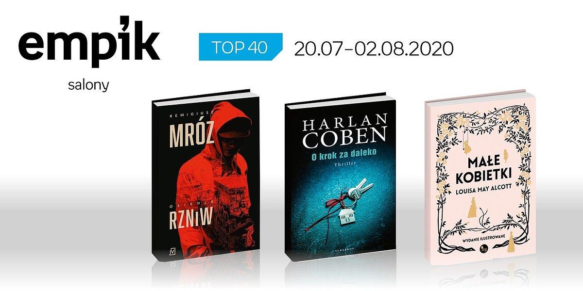 Książkowa lista TOP 40 w salonach Empik za okres 20 lipca - 2 sierpnia