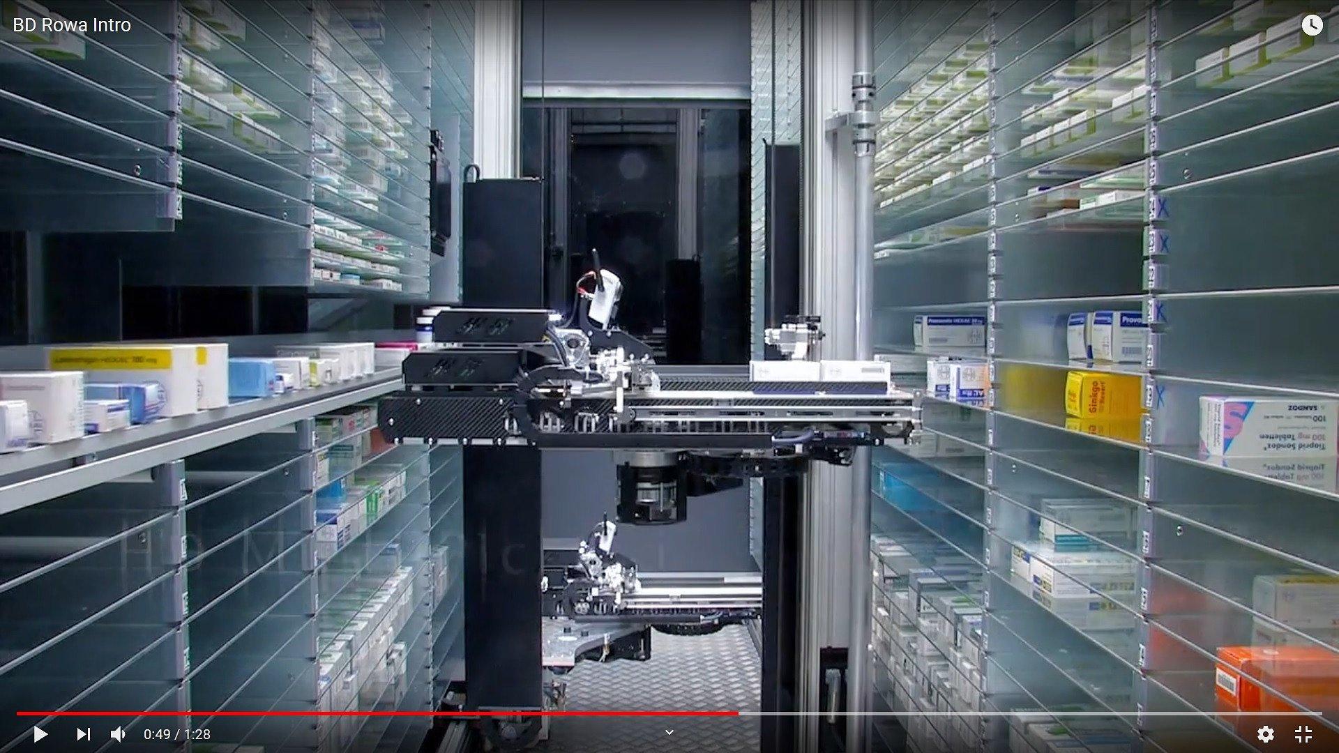 Roboty wysyłają produkty do farmaceuty w 8 sekund. Apteka Watykańska otwarta po remoncie