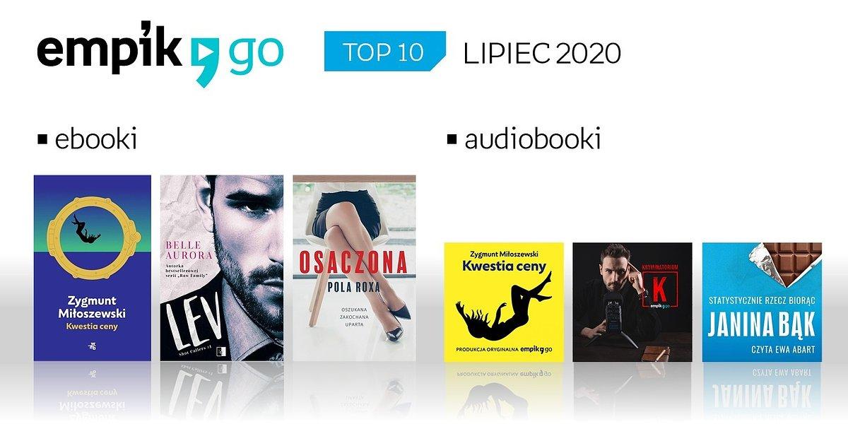 TOP 10 audiobooków i e-booków w Empik Go w lipcu