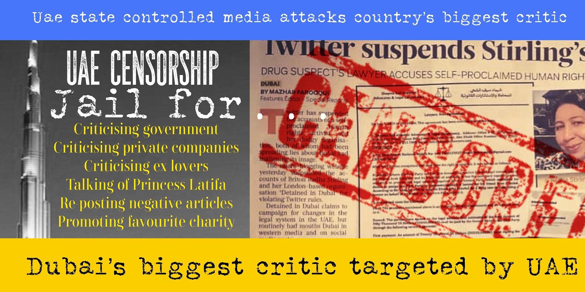 Censorship of Dubai's biggest critic on Twitter sparks concern