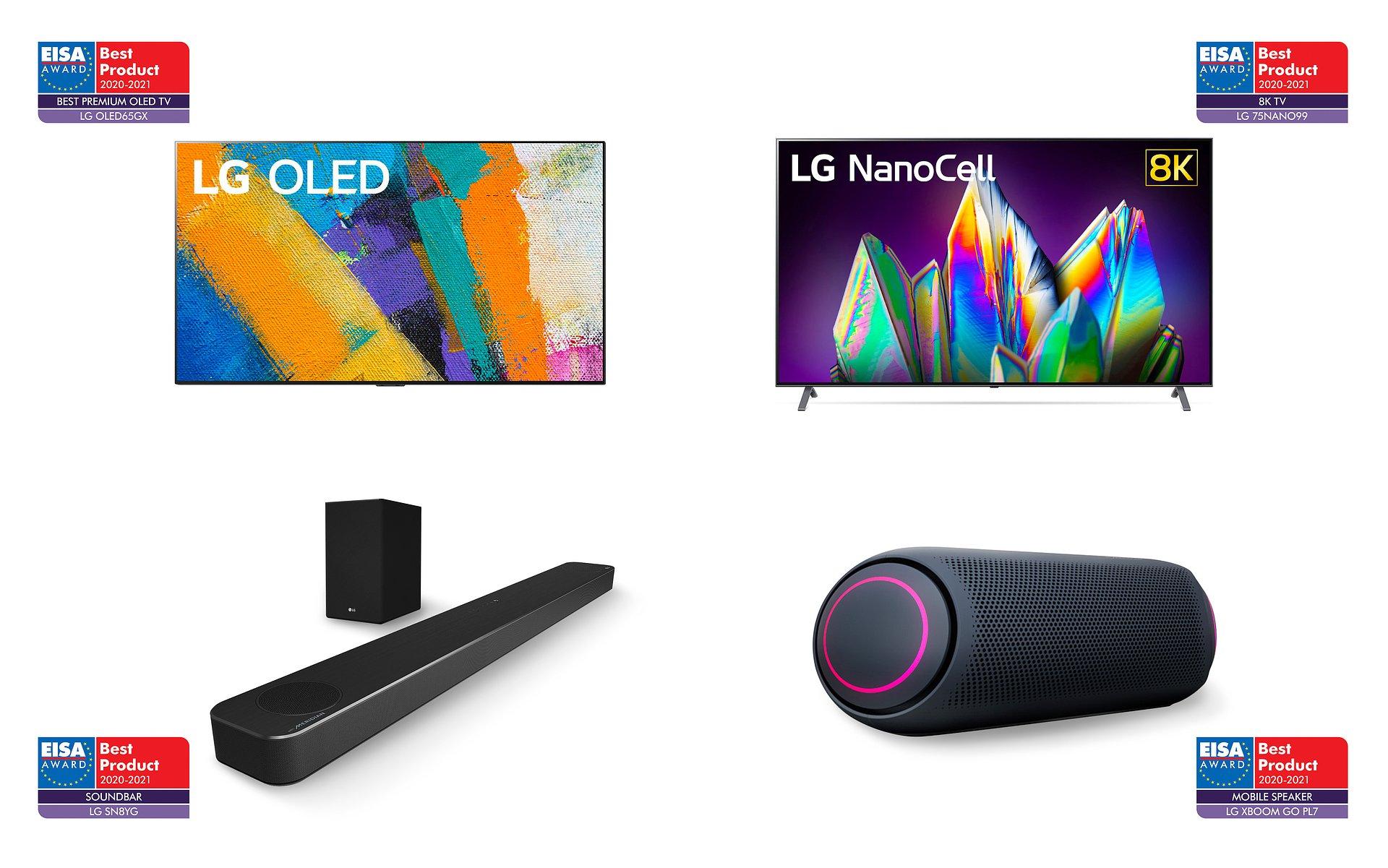 Telewizory i produkty audio firmy LG odniosły wielki sukces w konkursie EISA Awards 2020
