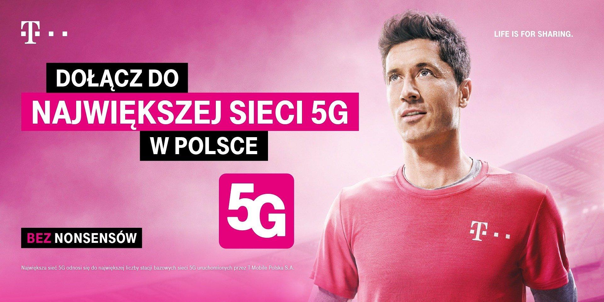 Robert Lewandowski w najnowszej kampanii T-Mobile promuje 5G i jakość sieci operatora