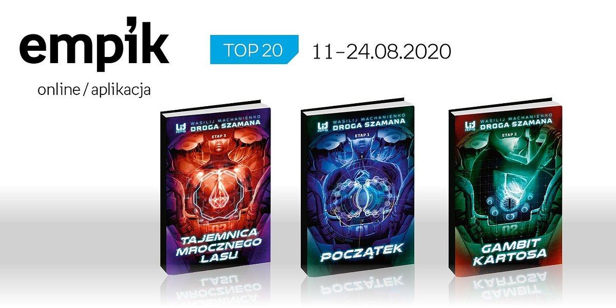 Książkowa lista TOP20 na Empik.com za okres 11-24 sierpnia