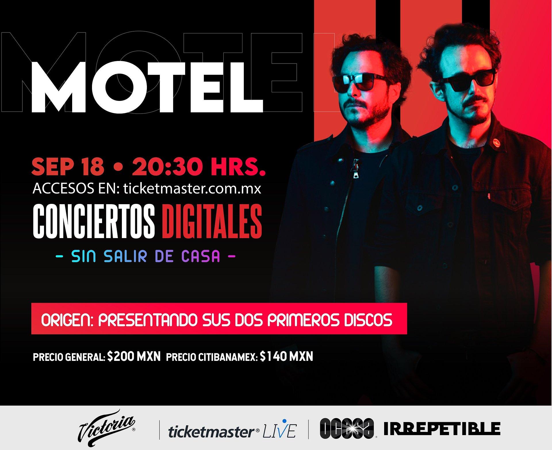Motel en concierto IRREPETIBLE