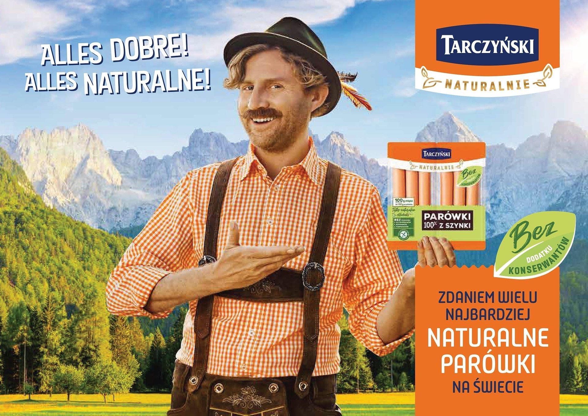 Agencja Red8 Advertising autorem kreacji najnowszej kampanii parówek z linii Tarczyński Naturalnie