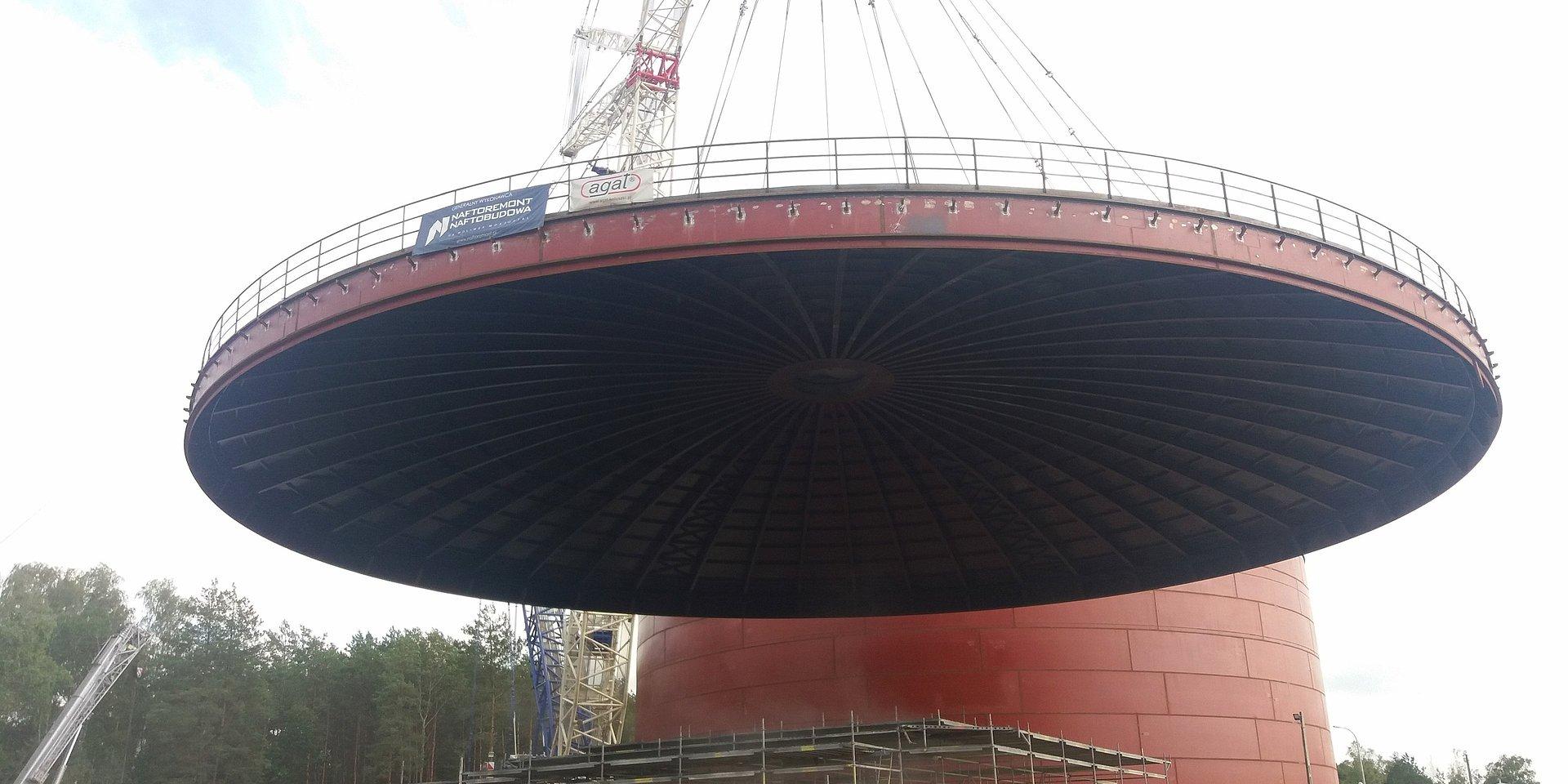 Baza paliw w Małaszewiczach: zakończyliśmy montaż dachu na nowym zbiorniku
