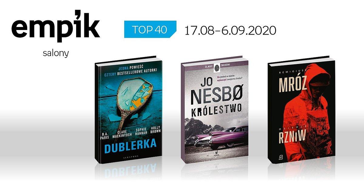 Książkowa lista TOP40 w salonach Empik za okres 17 sierpnia - 6 września
