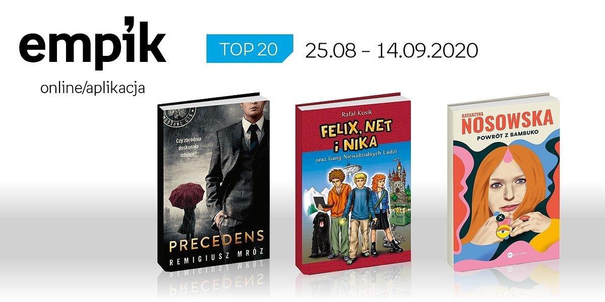 Książkowa lista TOP20 na Empik.com za okres 25 sierpnia - 14 września
