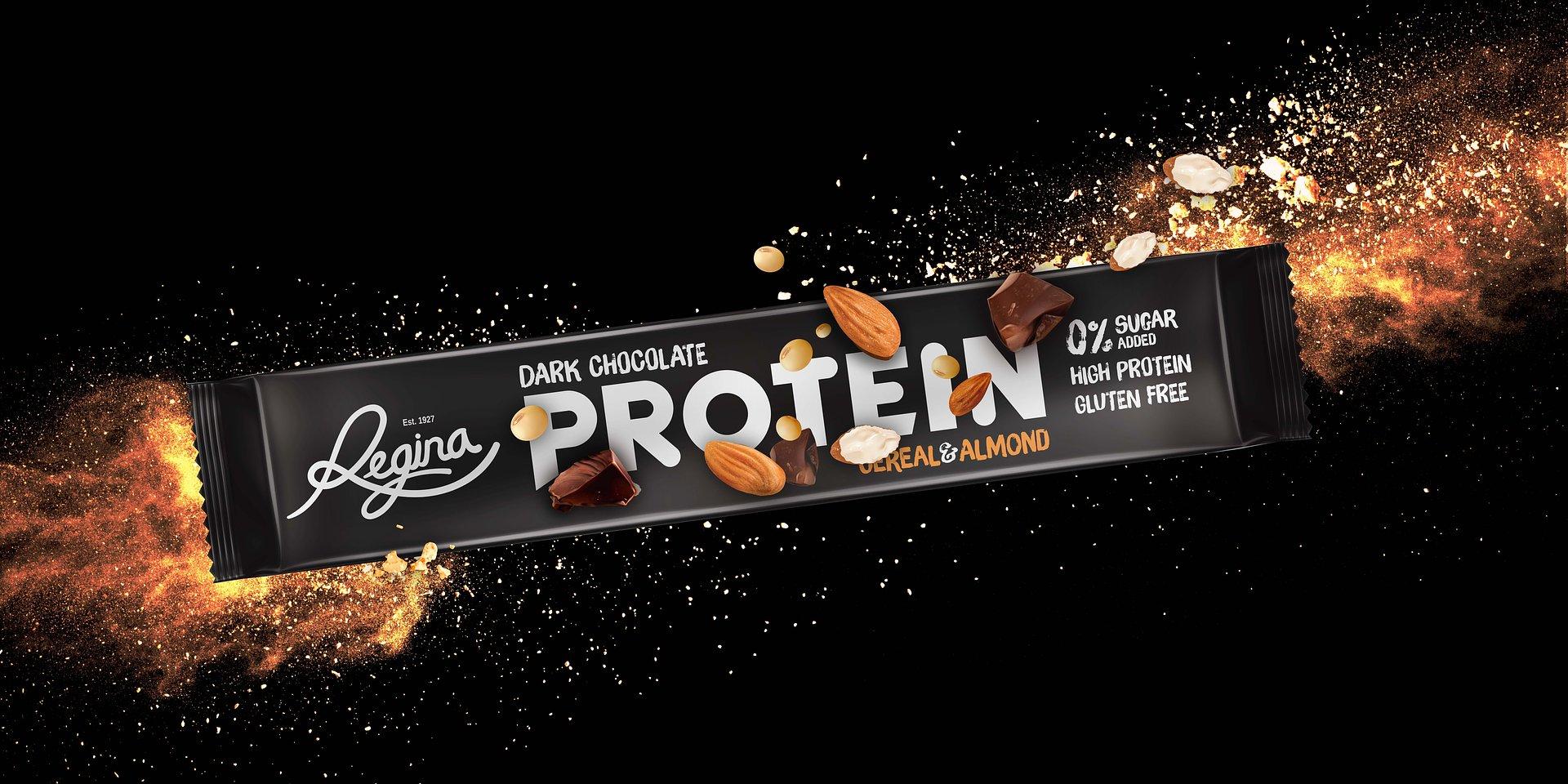 Novo Regina Protein com packaging da BrandCook