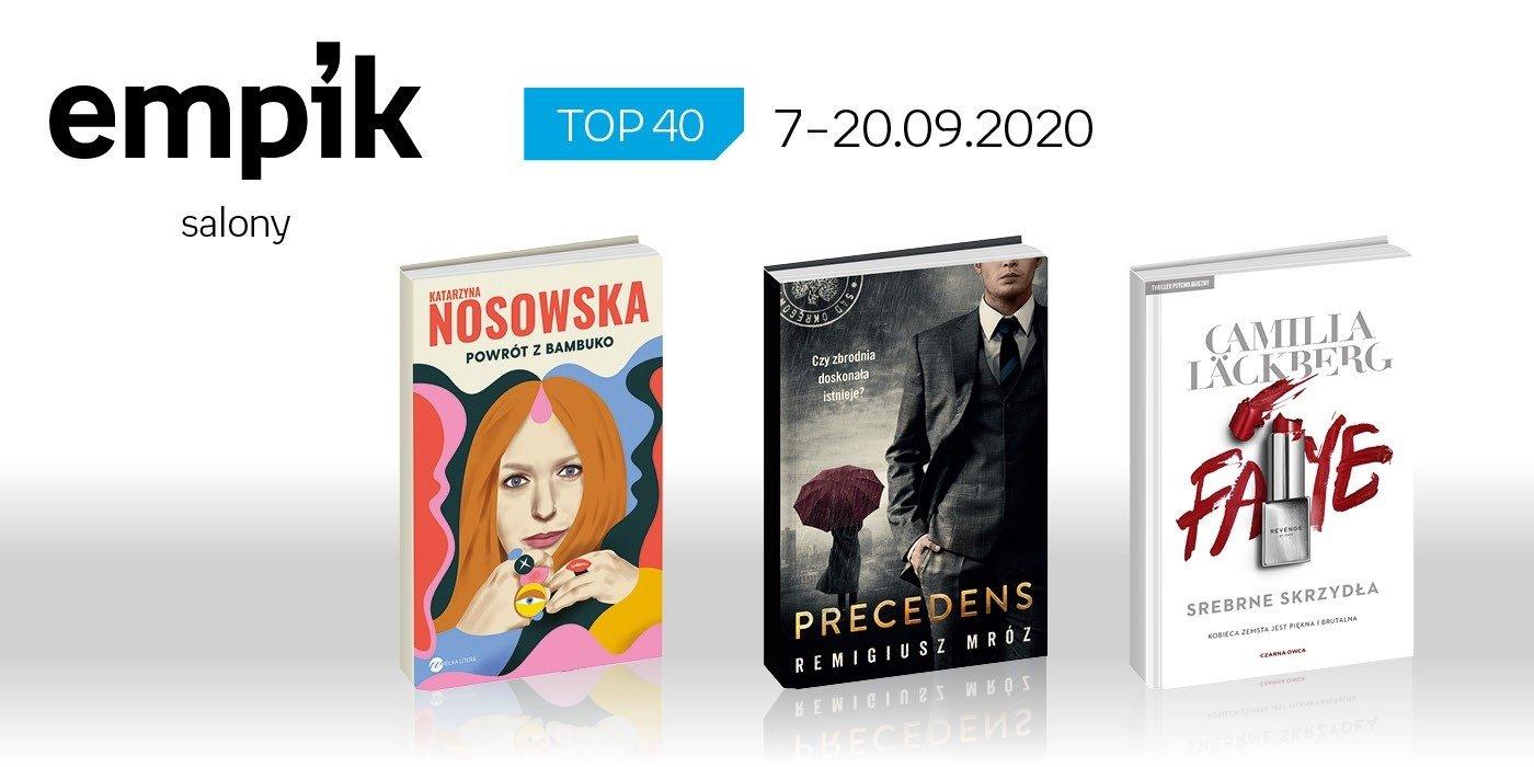 Książkowa lista TOP40 w salonach Empik za okres 7-20 września