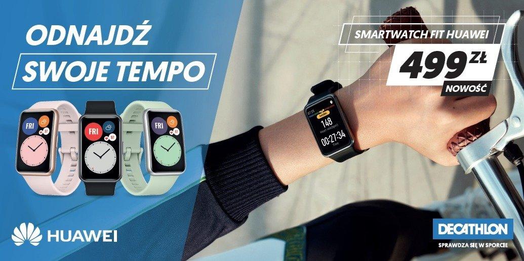 Smartwatche i opaski sportowe Huawei trafiają do oferty sieci sklepów Decathlon