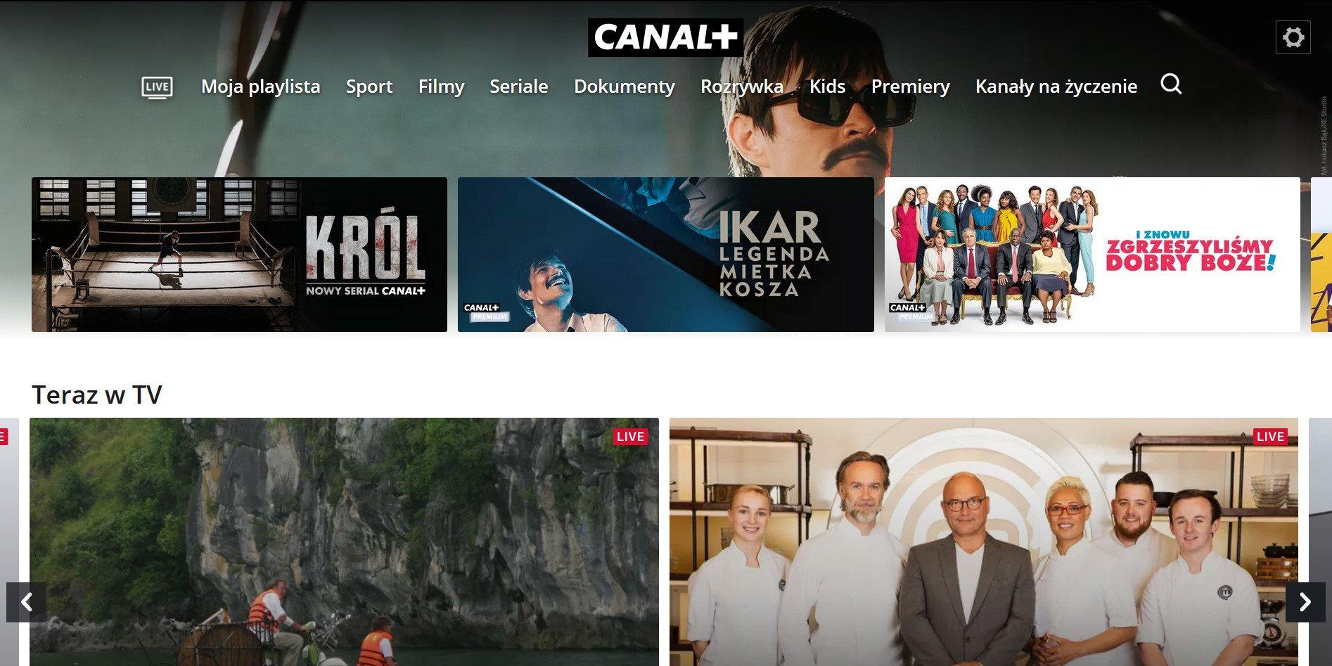 CANAL+ telewizja przez internet bez opłat dla abonentów CANAL+
