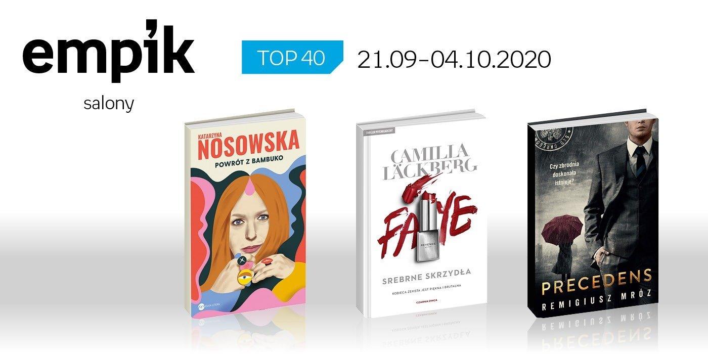 Książkowa lista TOP40 w salonach Empik za okres 21 września - 4 października